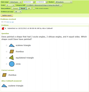 IXL Insights - Reviewing Problems Received