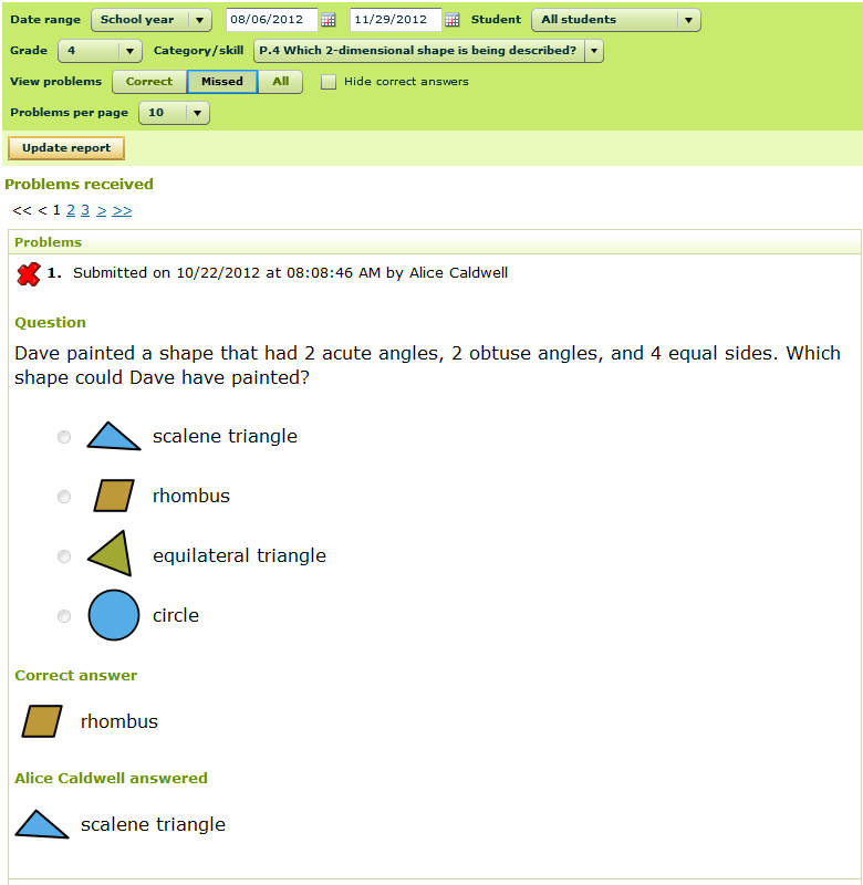 IXL Insights – Reviewing Problems Received