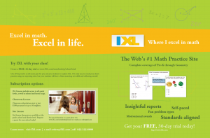 IXL Insights - Request a Brochure
