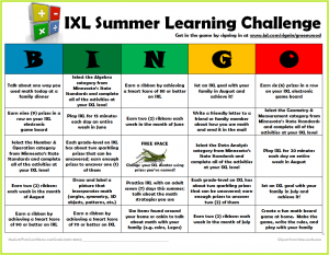 Summer Implementation Ideas for IXL Math (Part 1)