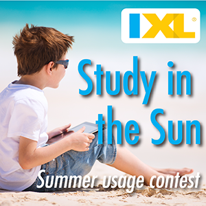 IXL Study in the Sun 2014 Summer Usage Contest