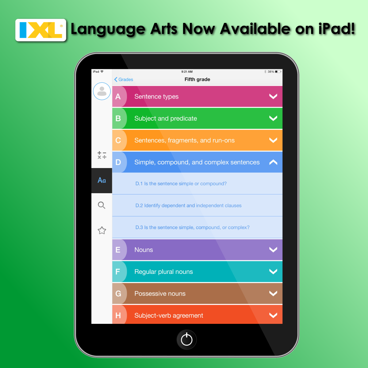 IXL Language Arts Now Available on iPad!