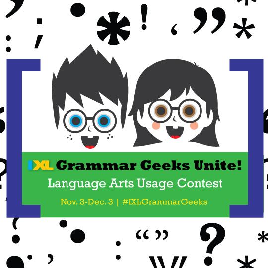 Grammar Geeks Unite! IXL Language Arts Usage Contest