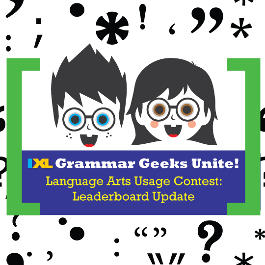IXL Language Arts Usage Contest: Leaderboard Update