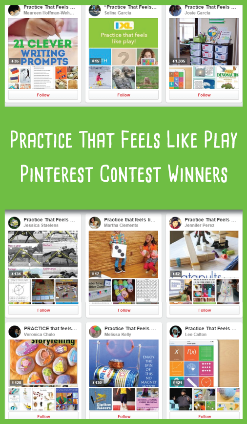 IXL Pinterest Contest Winners