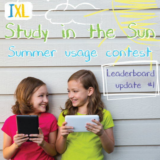Summer Usage Contest – Leaderboard Update #1