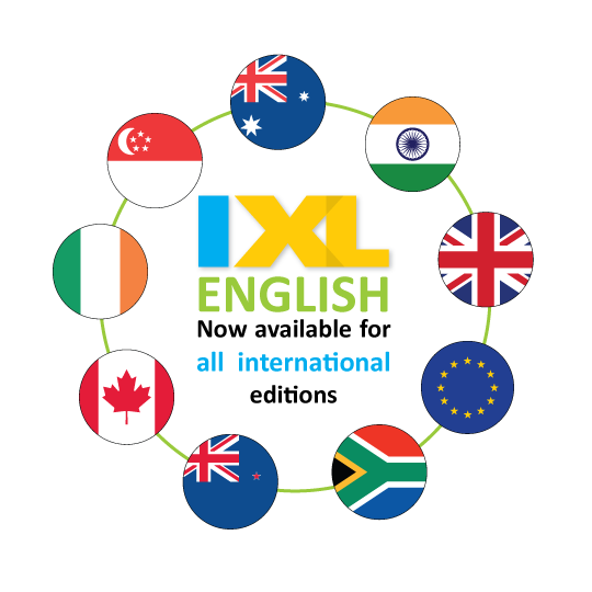 Now Available: IXL English for International Editions!