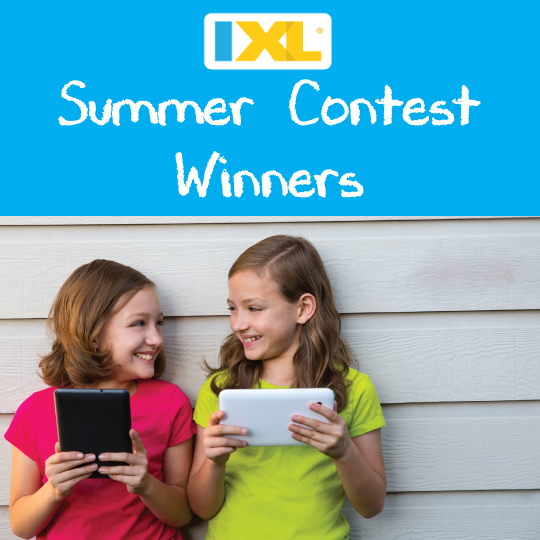 IXL Summer Contest Winners