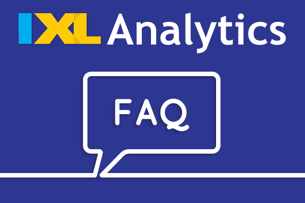 IXL Analytics - FAQs