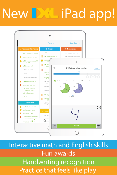 Check Out the All-New IXL iPad App!