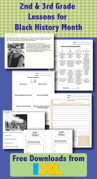 Black History Month: Free 2nd and 3rd Grade Lessons Available to Download