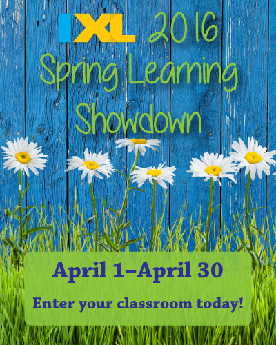 Enter the 2016 IXL Spring Learning Showdown!