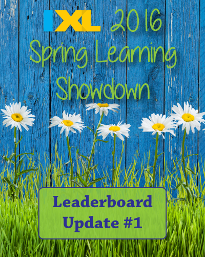 IXL Spring Learning Showdown 2016: Leaderboard Update #1