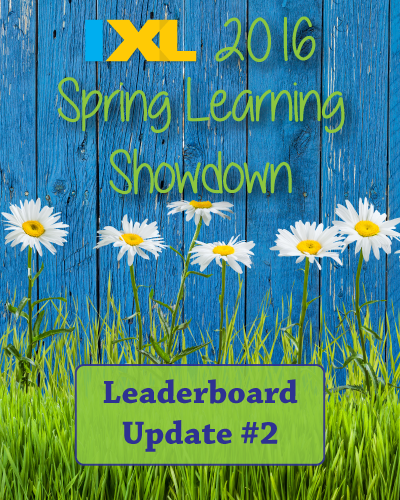 IXL Spring Learning Showdown 2016: Leaderboard Update #2
