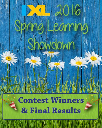 IXL Spring Learning Showdown 2016 Winners