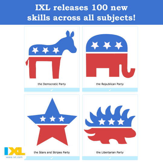 IXL Releases 100 Brand New Skills Across All Subjects!