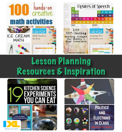 Lesson Planning Inspiration: Part 1