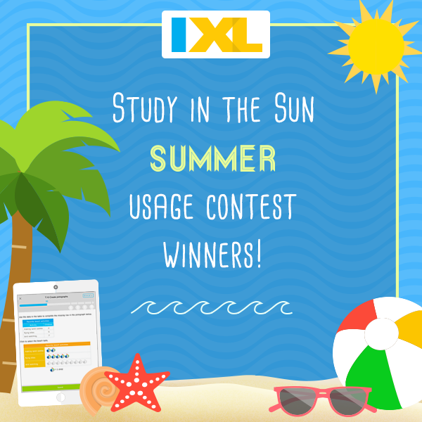 IXL Study in the Sun Contest 2016 Winners