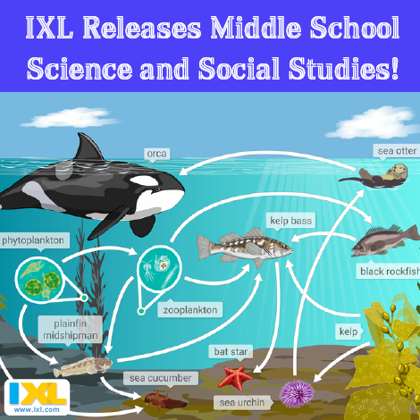 IXL Releases Middle School Science and Social Studies