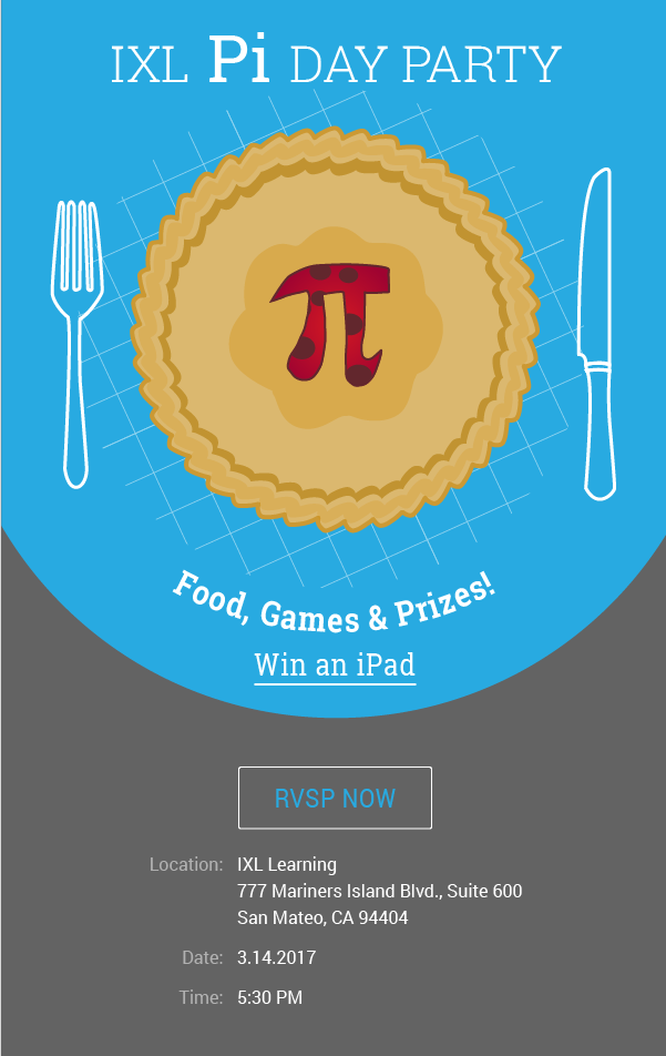 IXL Pi Day Party