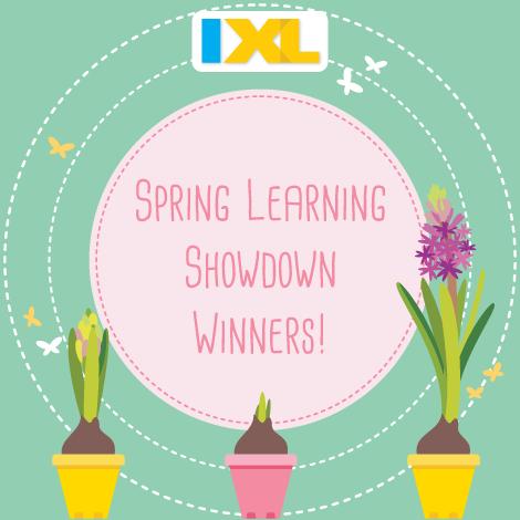 IXL Spring Learning Showdown 2017 Winners