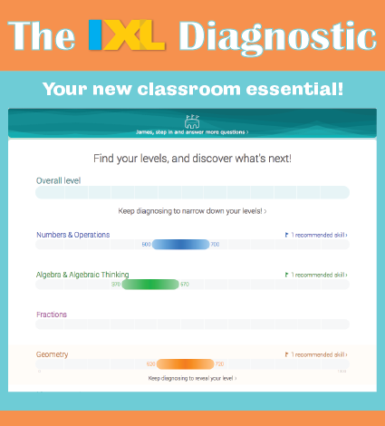 Introducing the IXL Diagnostic!