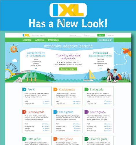IXL Has a Brand New Look!