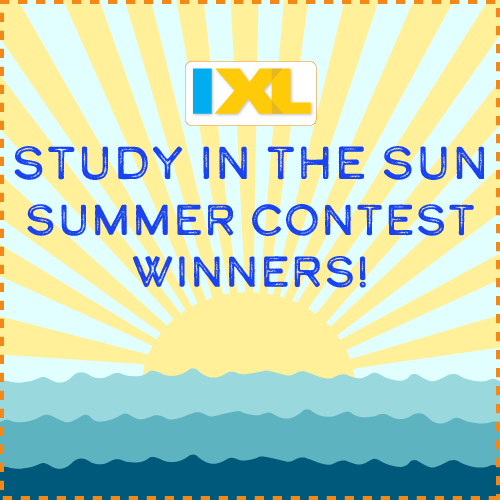IXL Study in the Sun Contest 2017 Winners