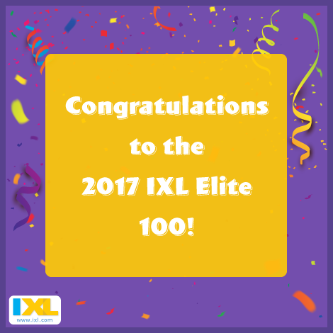 Announcing the New IXL Elite 100!