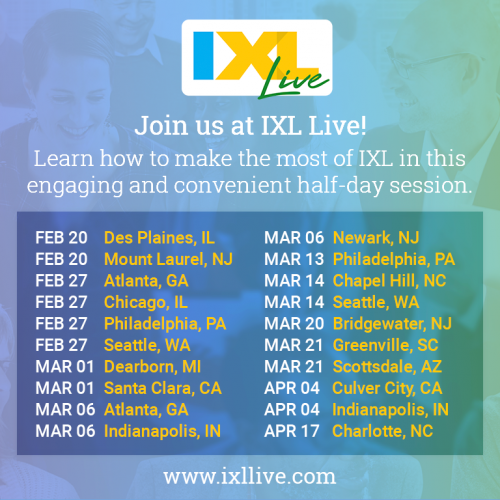Coming to a City Near You: IXL Live