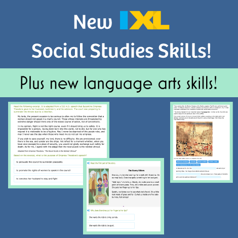 Attention history buffs: new social studies skills available!
