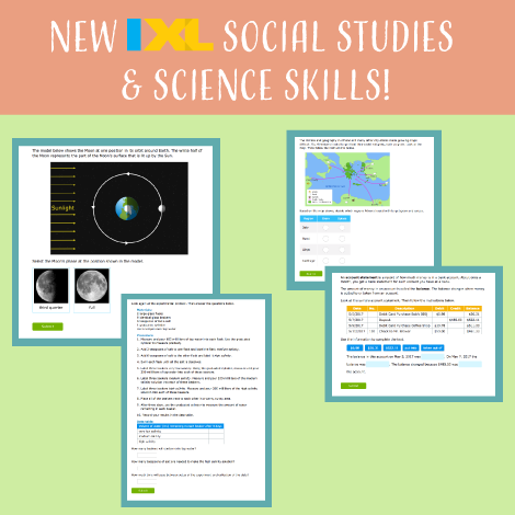 Put a spring in your step with new social studies and science skills!