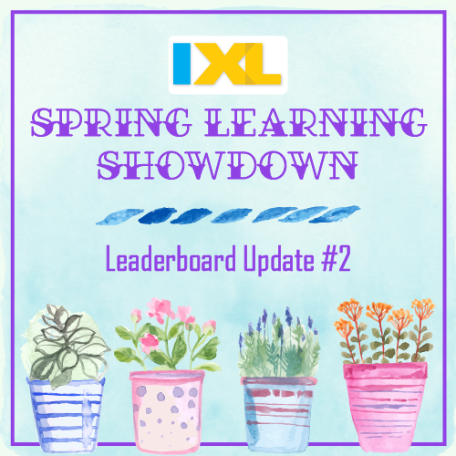 IXL Spring Learning Showdown 2018: Leaderboard Update #2