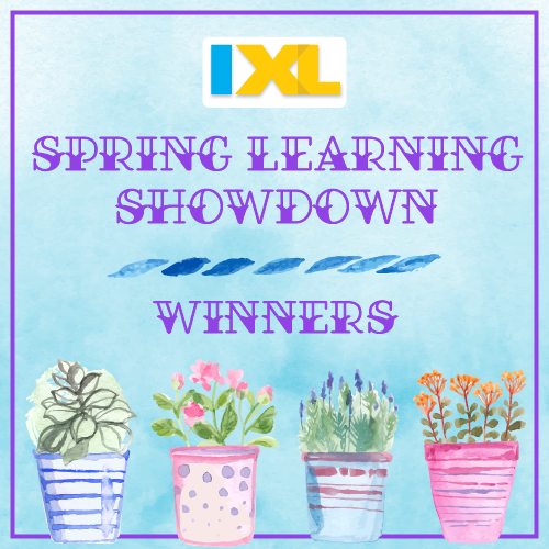 IXL Spring Learning Showdown 2018 Winners