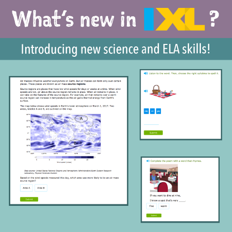 Spark your interest in science with new skills from IXL!
