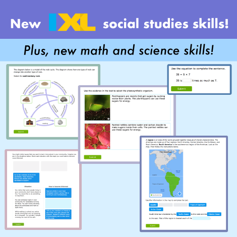 New social studies skills have arrived!