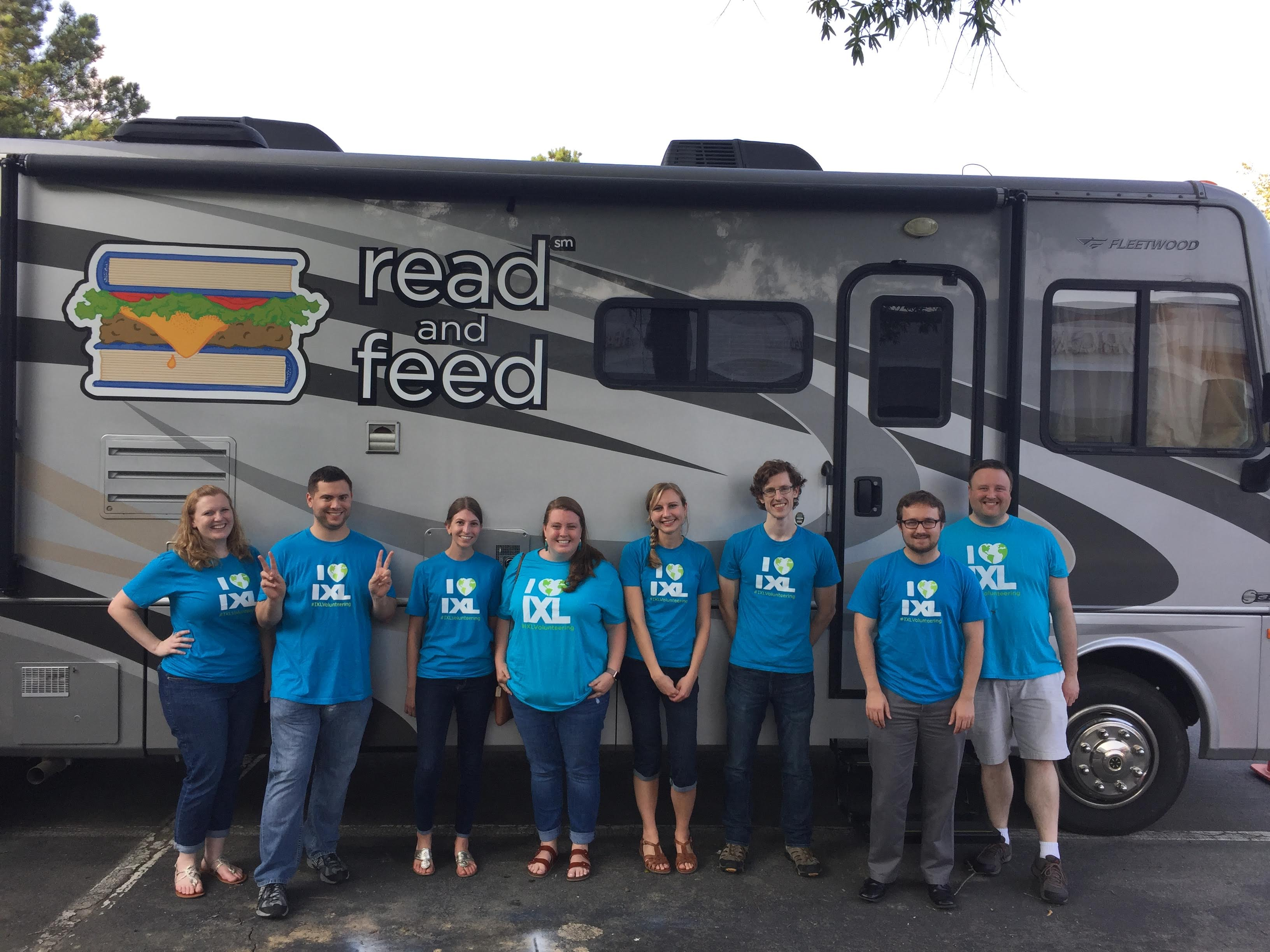 A Novel Time: IXLers Volunteer to Sort Books at Read and Feed