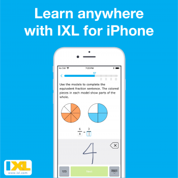 The IXL app is now on iPhone!