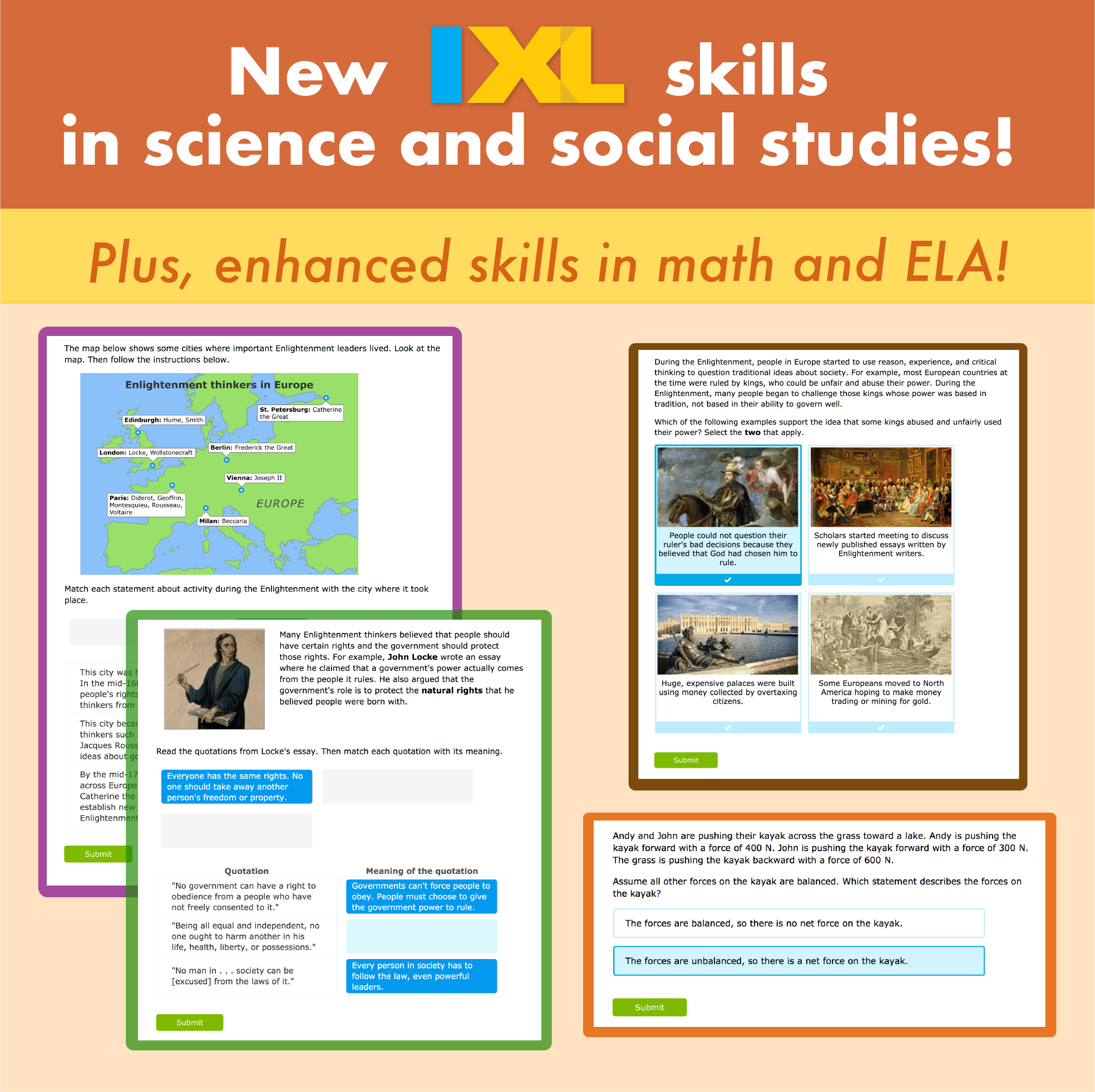 New social studies and science skills just in time for fall!