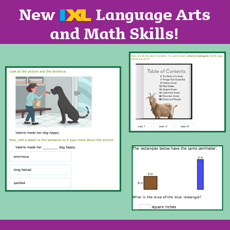 New year, new skills for ELA and math!