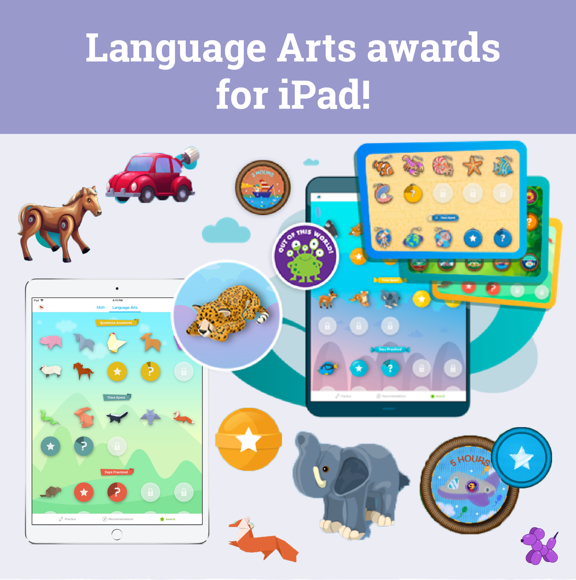 Language arts awards are now available on iPad!