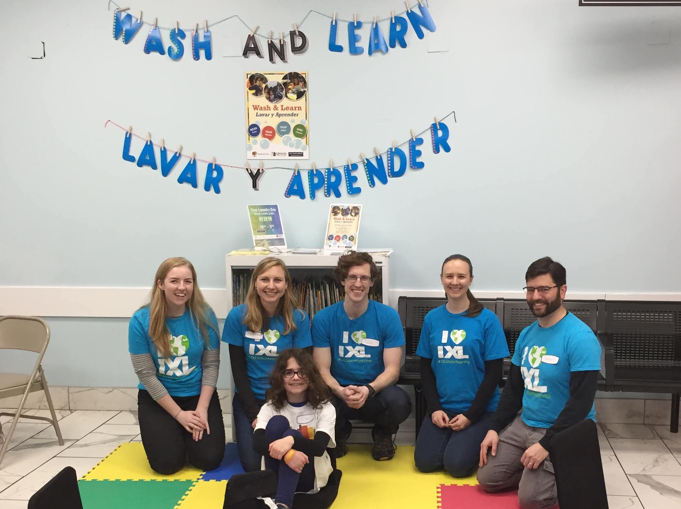 IXLers Have Loads of Fun Volunteering at Wash & Learn