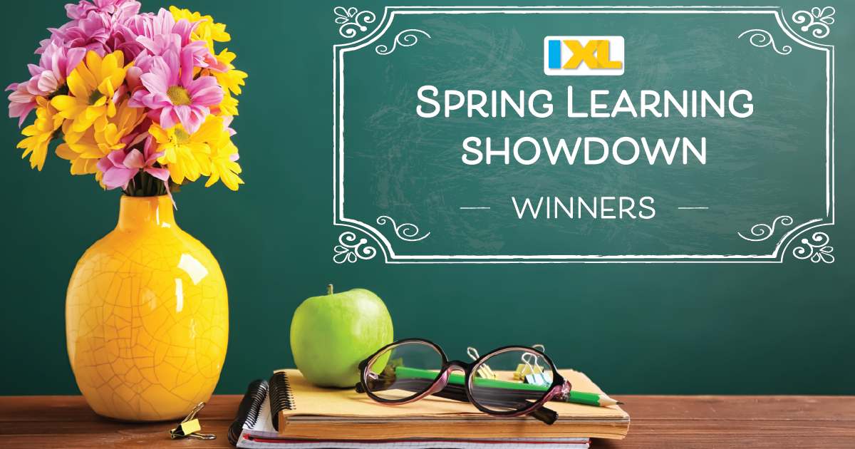 IXL Spring Learning Showdown 2019 Winners