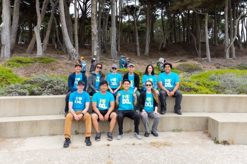 IXLers start the day volunteering at Lands End