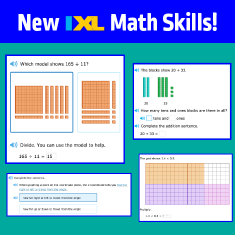 News flash! Brand new IXL math skills