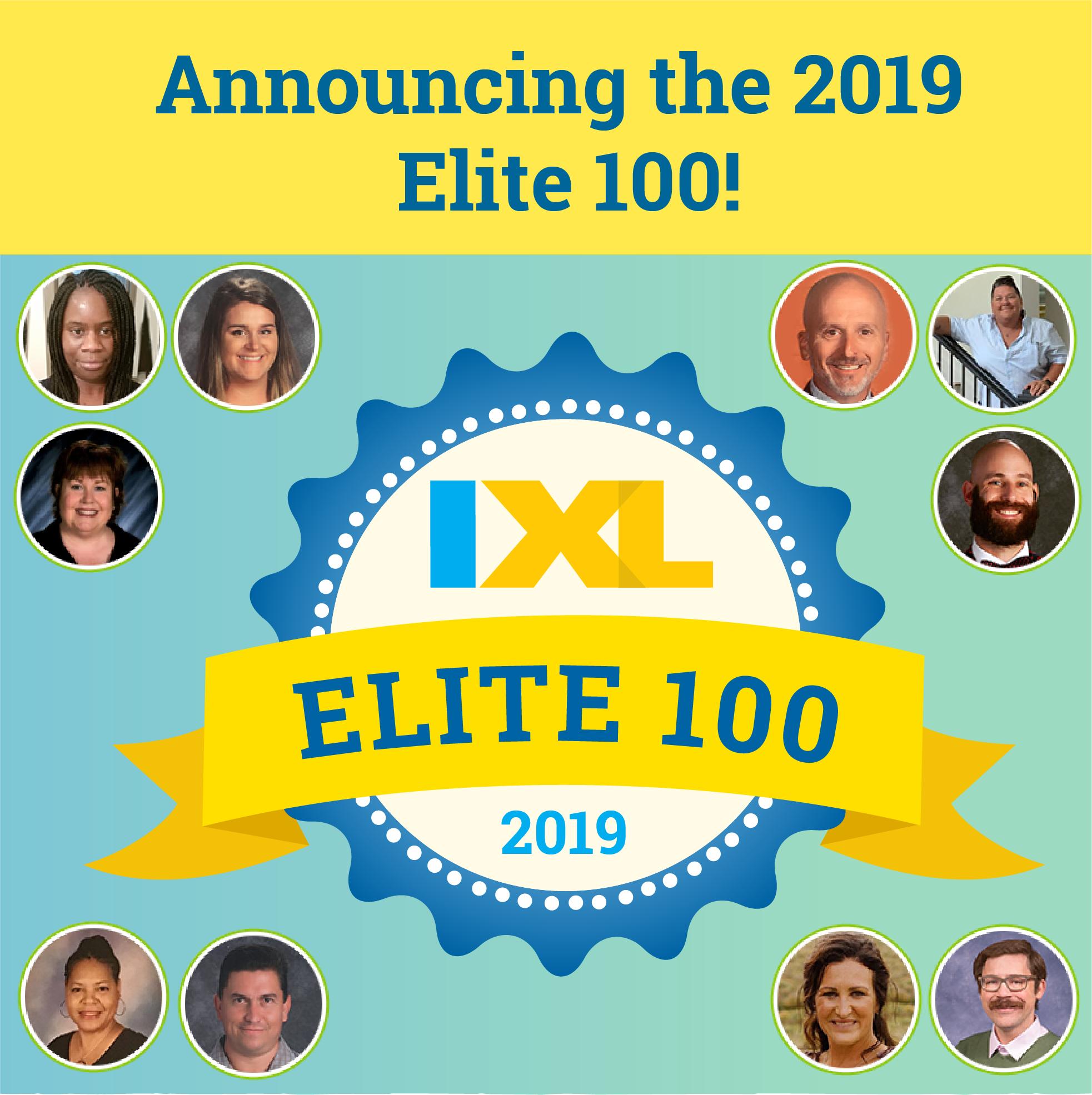 Announcing the 2019 IXL Elite 100!