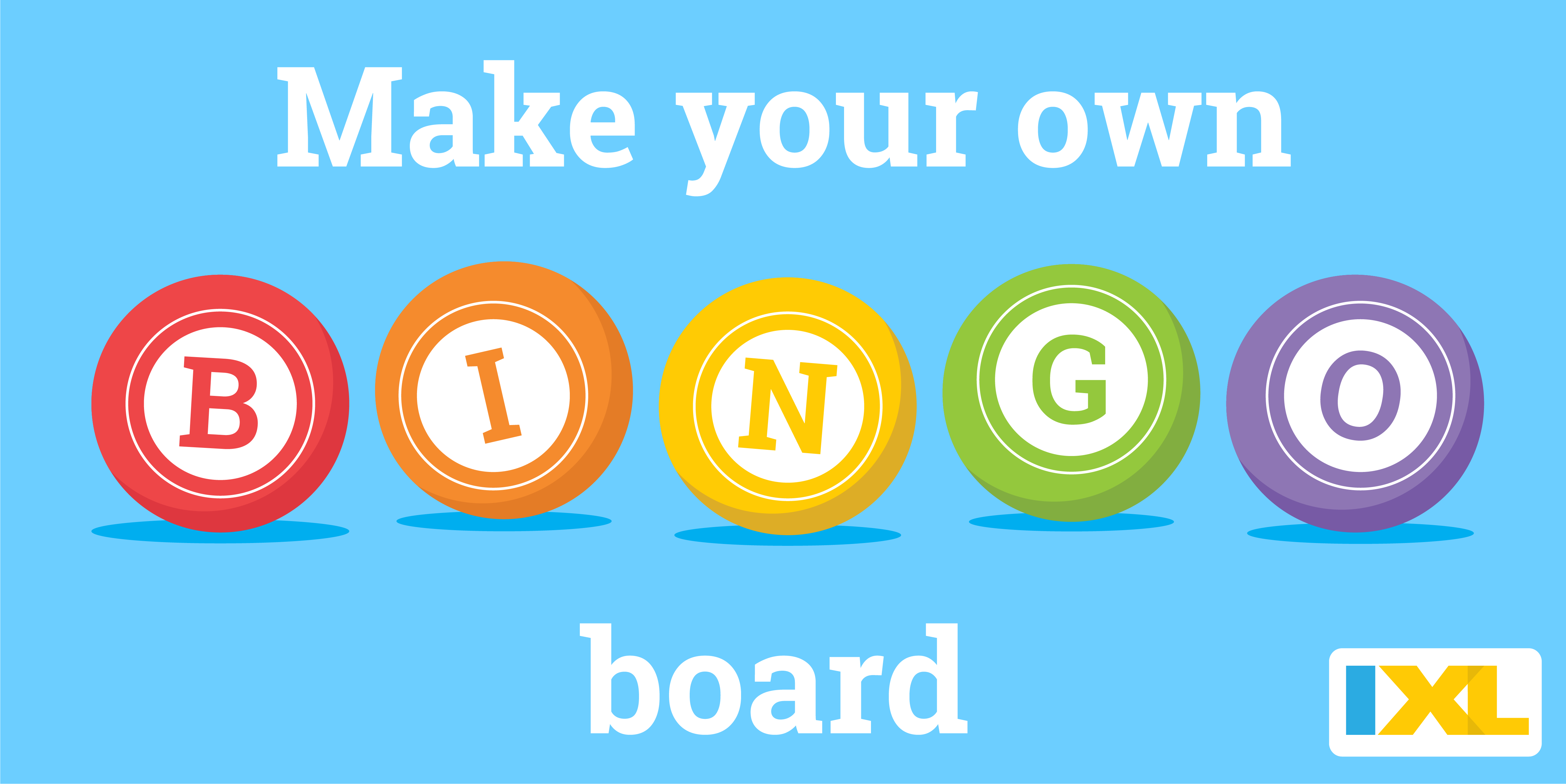 Make your own IXL BINGO Boards!