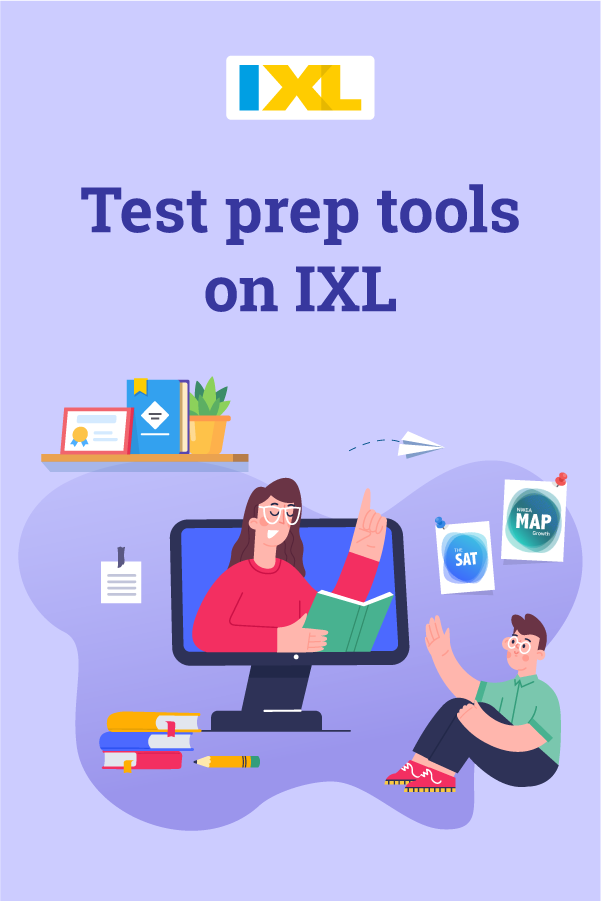 Test prep tools on IXL