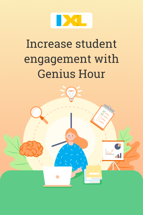 Increase student engagement with Genius Hour Pinterest image